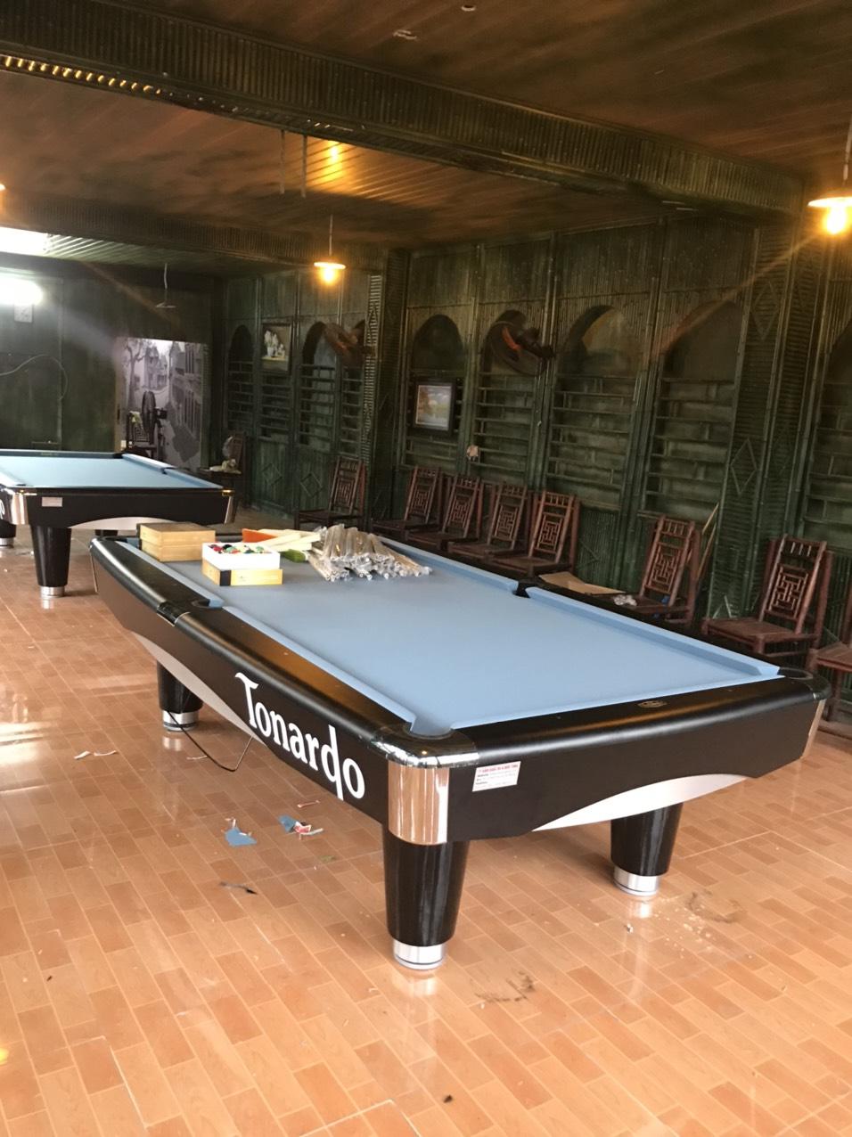 Billiards Đức Tình lắp đặt 3 bàn 9017 Tonardo mới tại Phố Tía